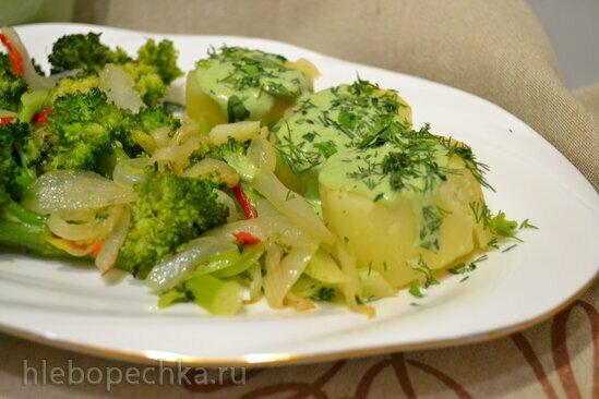 Соус яично-шпинатный для рыбы, овощей, пасты