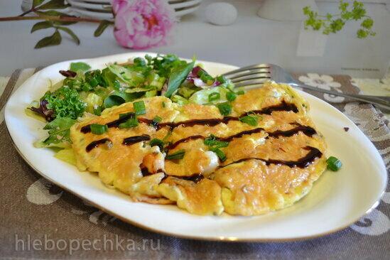 Омлет с креветками по тайски