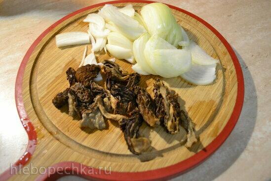 Толченка «два картофеля» со сморчками