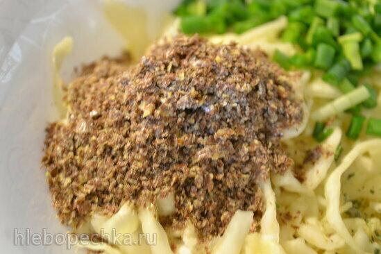 Салат из белокочанной капусты с льняными отрубями