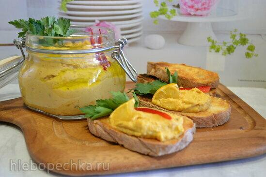 Хумус с нутом и запеченной тыквой