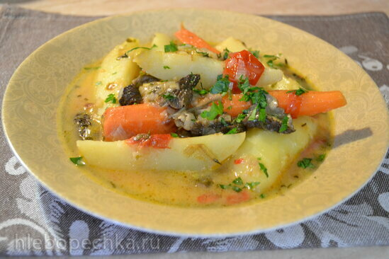 Густой картофельный суп на кокосовом молоке, со сморчками