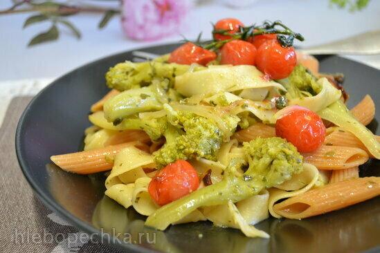 Паста чечевичная с капустой брокколи