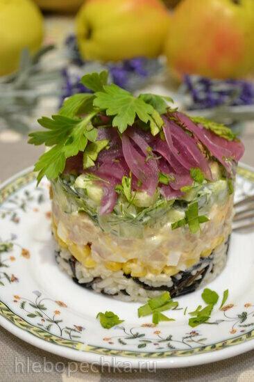 Порционный салат с трубачом