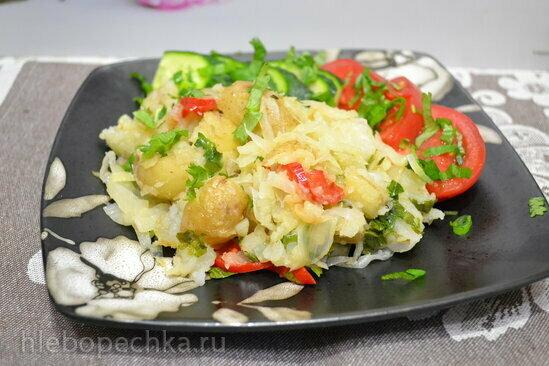Крошка-картошка с капустой (овощное рагу)