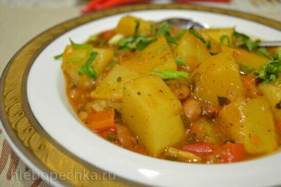 Рагу овощное с репой и фасолью