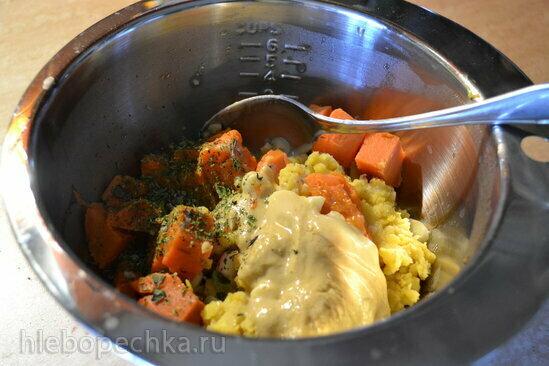 Хумус из чечевицы и запеченного батата