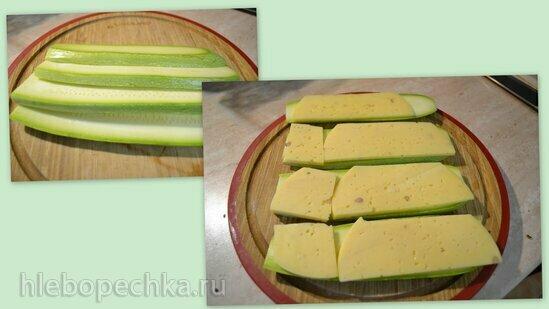 Сендвич из кабачков с сыром на гриле