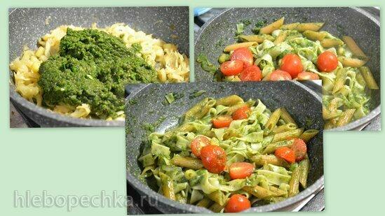 Зеленый соус для пасты