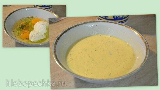 Омлет с клубничным салатом