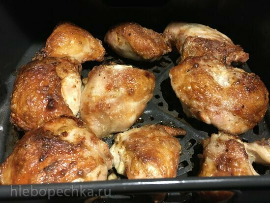 Куриные бедра, запеченные в гриле Ninja (аэрофритюрница, духовка, неконтактный гриль)