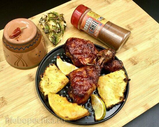 Huli-Huli - гавайский цыпленок на гриле в натуральном ананасовом маринаде