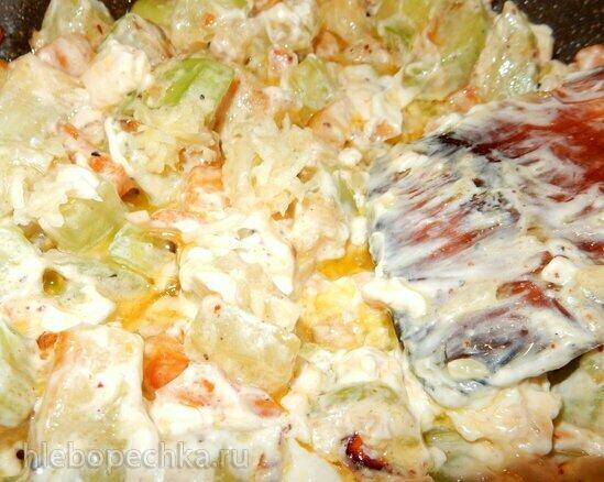 Кабачки в сливочном соусе