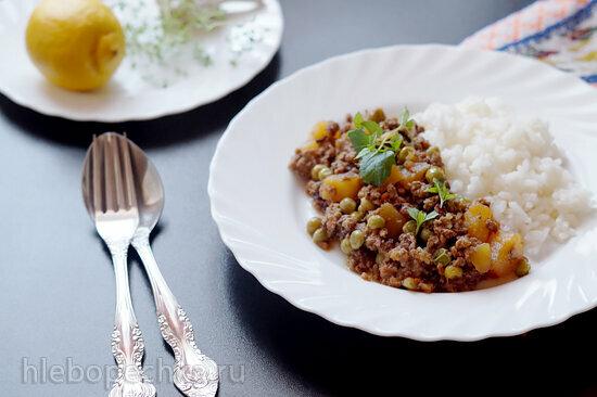Алу Кима (картофель с мясным фаршем) / Aloo Keema
