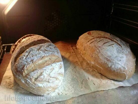 Цельнозерновой подовый хлеб с семечками