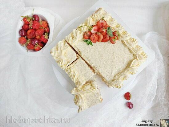 Торт без выпечки «Рафаэлло» на крекере (+видео)