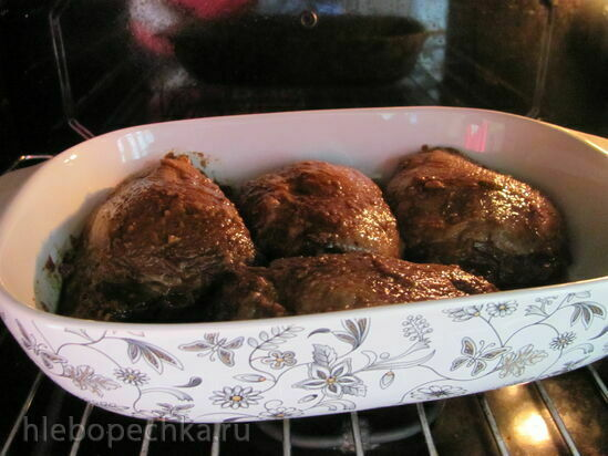 Куриные бедра в соусе терияки, запеченные в духовке