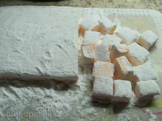 Маршмеллоу с цукатами и апельсиновым джемом