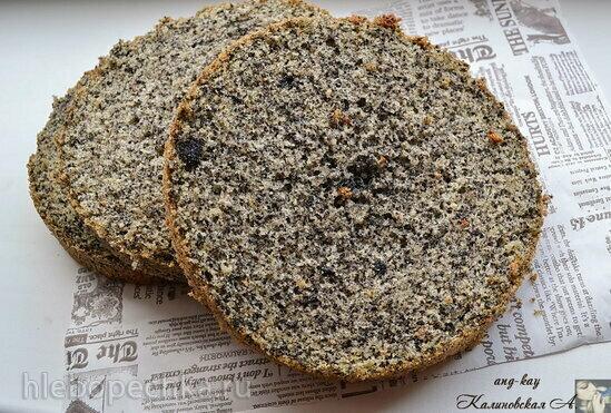 Бисквит с черным кунжутом