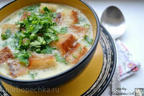 Чесночный крем-суп по-итальянски