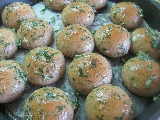 Пампушки пшенично-ржаные постные