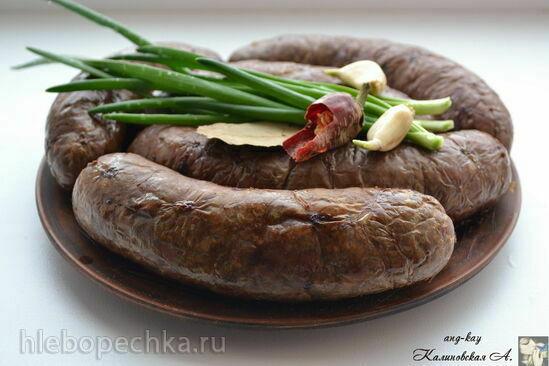 Колбаса печеночная с гречкой