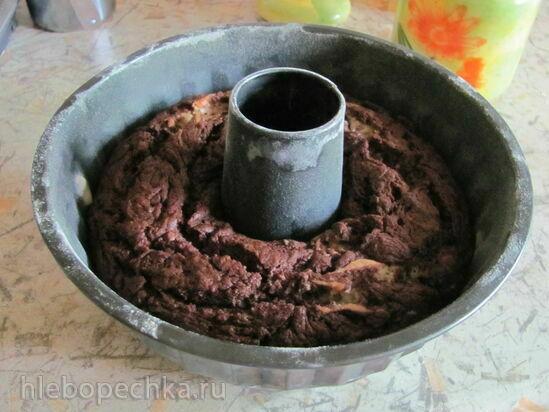 Постный банановый кекс с шоколадом