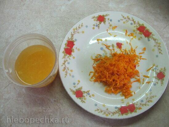 Постный кофейный кекс с апельсином от Л. Глинской