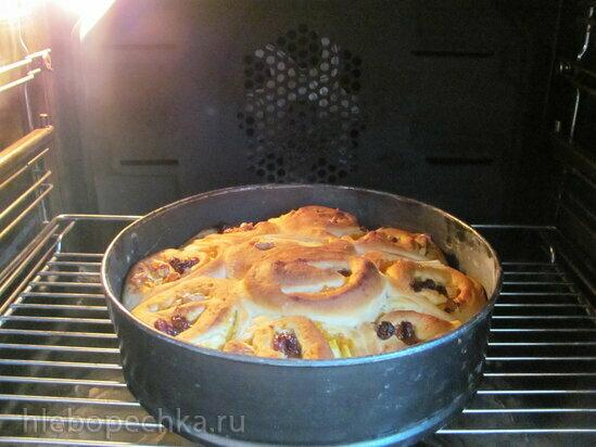 Постный дрожжевой пирог с тремя начинками