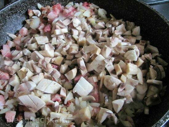 Рёшти с курицей и грибами
