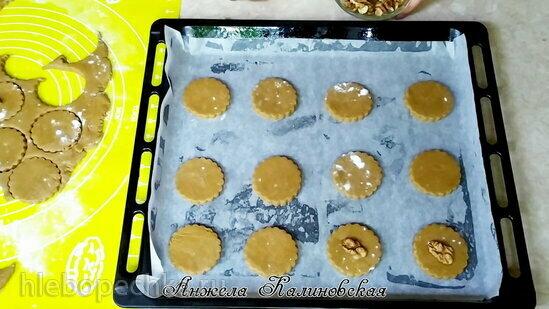 Кофейно-ореховое печенье в шоколаде (+видео)