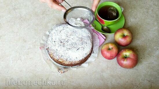 Пирог с рикоттой, яблоками и шоколадом (+видео)
