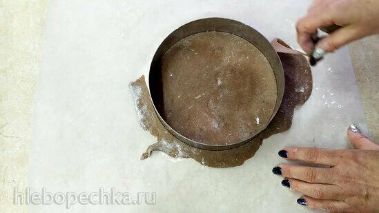 Шоколадно-ванильный сметанник с малиновым конфи (+видео)