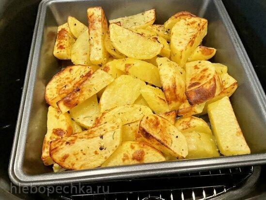 Картофель по гречески в гриле Ninja