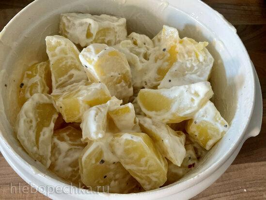 Запеченный картофель под майонезом в гриле или кастрюле Ninja