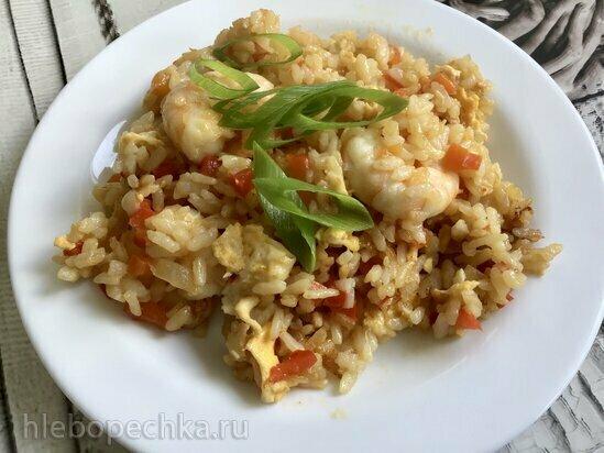 Рис с креветками по тайски (Ninja Foodi)