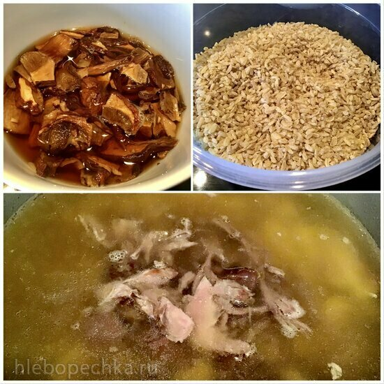 Суп грибной с булгуром из утки в Ninja Foodi (любая мульти, скороварка)