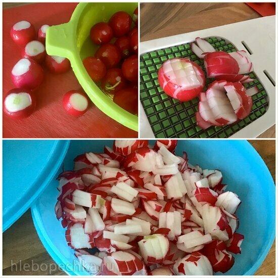 Салат из редиски бабушкин