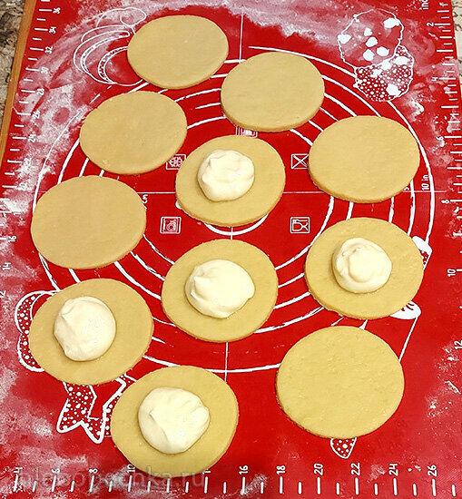 Итальянское песочное печенье с кремом маскарпоне