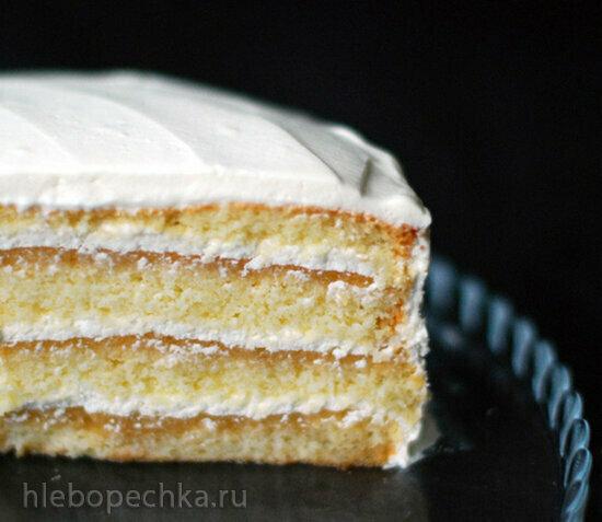 Нежный бисквитно-яблочный торт