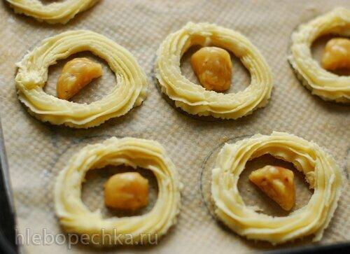 Печенье Ромиас с нугой
