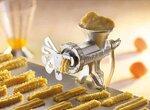 Приспособление для изготовления печенья с помощью мясорубки