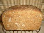 Хлеб пшеничный с цельнозерновой мукой, отрубями и фруктовым джемом